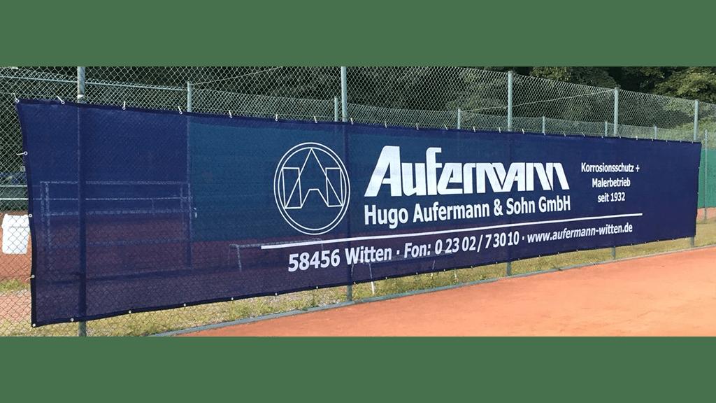 Tennisblende 12 x 2m saphirblau - TC Hohenstein Witten -min