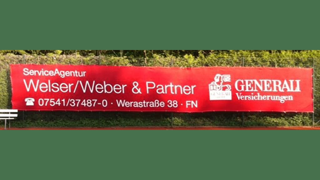 Tennisblende ROT 12x2 m Generali-WelserWeber&Partner-min
