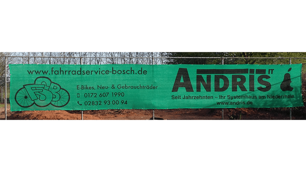 Tennisblende hellgrün 12 x 2 m SV Union Wetten-min