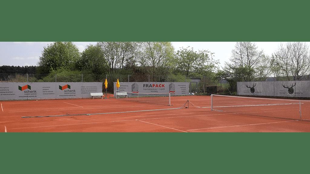 Tennisblenden 12 x 2m hellgrau Sportclub Großschwarzenlohe 3-min