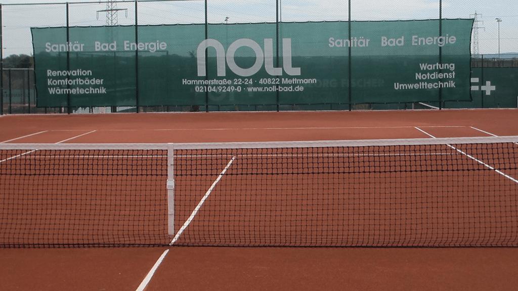 Tennisblenden dunkelgrün 18x3m MTHC METTMANN 1-min